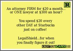 An Attorney firm for $20.00 a month. LegalShield - Worry Less. Live More. jpoitras69.legalshieldassociate.com