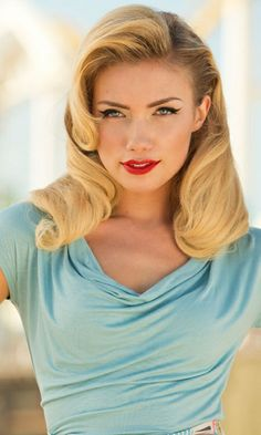 love the retro hair and make-up