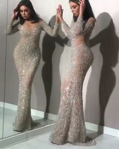 Silver glam evening dress beautiful gowns dresses, evening d Elegant Dresses, Pretty Dresses, Sexy Dresses, Fashion Dresses, Prom Dresses, Dress Prom, Formal Dresses, Prom Outfits, Girly Outfits