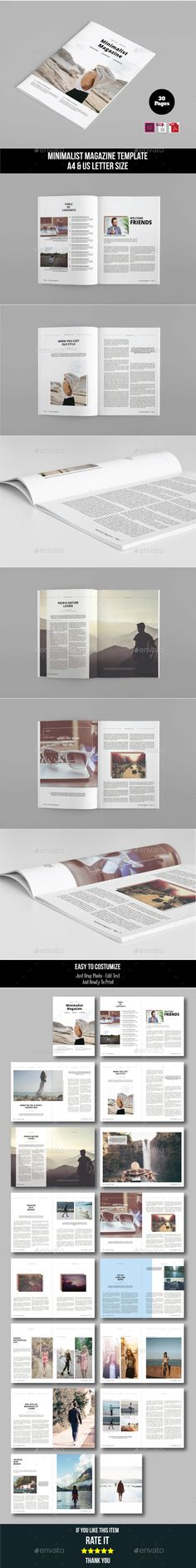 Minimal Magazine Template InDesign INDD. Download here: http://graphicriver.net/item/minimal-magazine-template/16348025?ref=ksioks