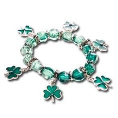 New product added to South of Memphis! St. Patrick's Day.... Order now! http://www.southofmemphis.com/products/st-patricks-day-novelty-shamrock-charm-bracelet?utm_campaign=social_autopilot&utm_source=pin&utm_medium=pin