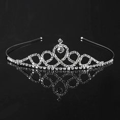 Elegant Wedding Bridal Tiara Rhinestone Crystal Crown Pageant Prom Hair Headband