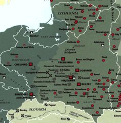 Map of Concentration Camps in Poland & Lithuania | Jewish Virtual Library | < 129° Litwa https://de.pinterest.com/dcasey6565/lithuania/