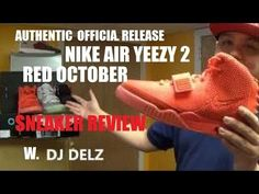 Nike Air Yeezy 2 Red October Sneaker Review + On Feet + Glow Test W/ Dj Delz - http://maxblog.com/1770/nike-air-yeezy-2-red-october-sneaker-review-on-feet-glow-test-w-dj-delz/