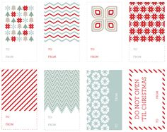 Gift tags to download
