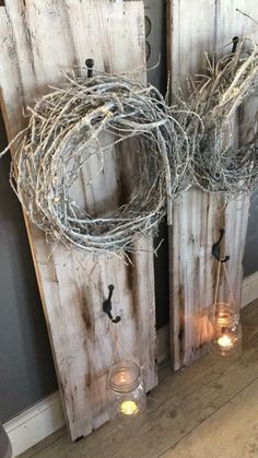 Creative and great atmosphere - # candles - Deko Hauseingang - Deco Home Diy Crafts To Do, Crafts For Kids, Winter Girl, Photo On Wood, Decoration Table, Ladder Decor, Projects To Try, Shabby Chic, Photo Gifts