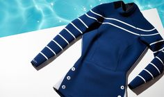 Stop it! This Cynthia Rowley x Goop wetsuit is unbelievable!! | Exclusive Navy Wetsuit | Goop.com