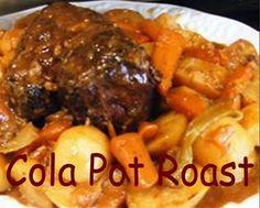 Cola Pot Roast - Oven Recipe! Ingredients: 4 pounds beef sirloin roast ...