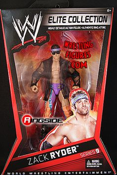 RINGSIDE COLLECTIBLES WWE Toys, Wrestling Action Figures, Jakks Pacific, Classic Superstars Action F: ZACK RYDERELITE 9ULTRA RARE - LIMITED QUANTITY!WWE Toy Wrestling Action Figure