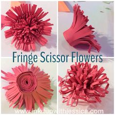 Fringe Scissor Flowers  Stampin' Up!