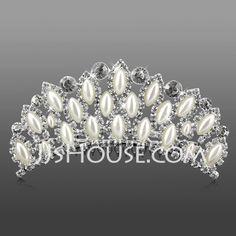 Headpieces - $18.99 - Silver Alloy Rhinestone And Pearl Three Layer Bridal Tiara (042009736) http://jjshouse.com/Silver-Alloy-Rhinestone-And-Pearl-Three-Layer-Bridal-Tiara-042009736-g9736