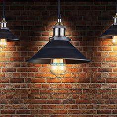 Retro Industrial Rustic Metal Wall Lamp/Ceiling Fixture/Pendant Light Cafe Diner | eBay