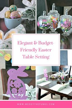 Easter Table Setting OrientalTrading