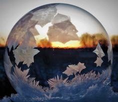 Frozen soap bubble that I photographed