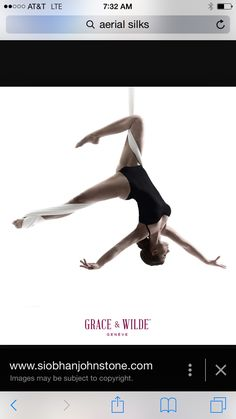 Beginner level aerial silks pose idea