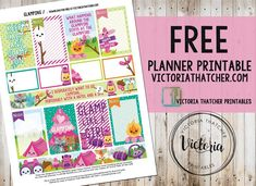 Free Printable Glamping Planner Stickers from Victoria Thatcher