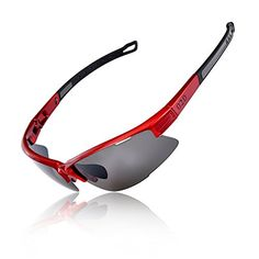 5a11051ce78 O2O Polarized Sports Sunglasses for Men Women Teens Cycling Running Fishing  Golf Driving Tr90 Frame RedBlack