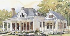Someday I would love to build a home...a small farmhouse that lives large and filledwith vintage details. This plan from Southern Living  h...
