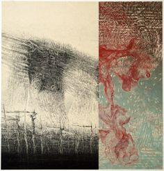 """Sonomama  Koichi Yamamoto  22""""x30""""  Intaglio, Relief"""