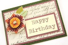 Handmade Bohemian Happy Birthday Card Vintage by Summertimedesign, $4.00