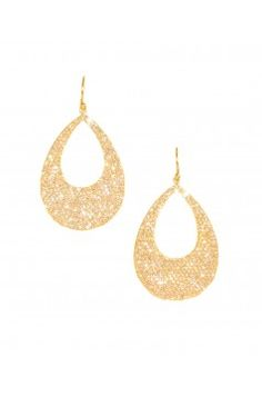 Open tear-drop diamond earrings