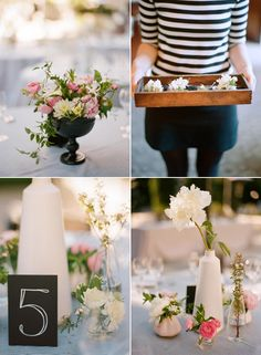 table centerpieces via snippet and ink.