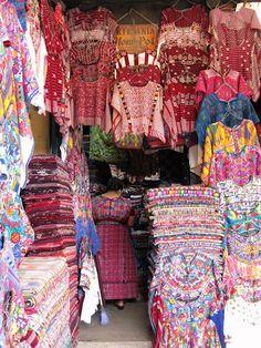Guatemala...huipils for sale