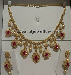Diamond Choker in Floral Design - Jewellery Designs
