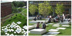 #AUS201718 #GroupE (0) Landscape design of Univercity's public space (1) Michael Van Valkenburgh Associates INC (2) NORTHWEST LABORATORIES Harvard University, Cambridge, MA (3) Built, 2002-2008 (4) - (5) We have this project as a reference because of the landscape morphology. (6) http://www.mvvainc.com/project.php?id=84