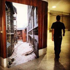 Mi primera ampliación - 200x100 cm. Callejón de Montreal. My first large format print. Alley in Montreal
