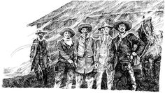 The Cowboys had regrouped west of the O.K. Corral rear entrance, just beyond Fly's in the side yard, outside the window where Doc is boarding. Morgan Earp, Virgil Earp, Tombstone Epitaphs, Wyatt Earp, The Ok, Doc Holliday, Street Fights, Face Off, Old West