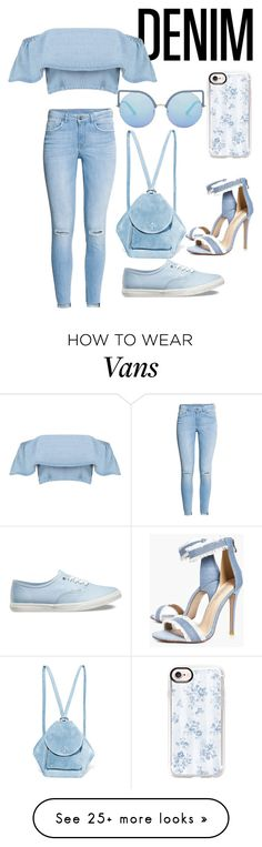 """Which shoe??"" by maryamlovesbeauty on Polyvore featuring Boohoo, H&M, MANU Atelier, Matthew Williamson, Casetify and Vans"