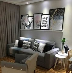 Living Room Tv, Apartment Living, Sala Grande, Elegant Living Room, Tiny Spaces, Decorating Small Spaces, Decoration, Sweet Home, Home Goods