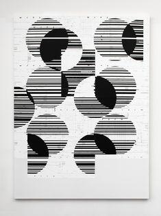 "Visual Artist Michael Riedel Speaks on ""Powerpoint"" Art Exhibit - Life+Times Tattoo Graphic, Graphic Art, Elements Of Design Shape, Textiles Sketchbook, Black And White Artwork, Creative Poster Design, Generative Art, Grafik Design, Op Art"