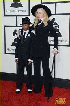 Madonna takes her son David to the 2014 Grammys on January 26, 2014