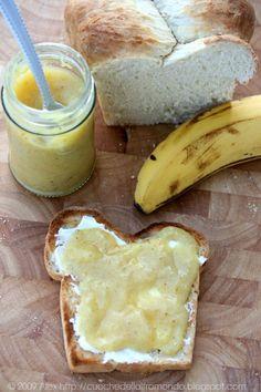 Confettura di banane vaniglia e succo d'arancia