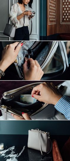 """""""The Pearl"""" leather crossbody bag /"""