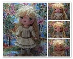 I have two new patterns to share, plus a new girl to model them!  Emily is another Edwardian Free Spirit.  She has peachy skin (Red Heart Cl...