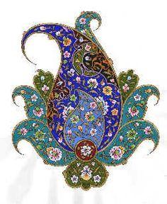 Persian Illuminations (Tazhib) artwork by Mojgan Lisar Paisley Art, Paisley Pattern, Pattern Art, Paisley Doodle, Persian Pattern, Persian Motifs, Islamic Art Pattern, Arabic Pattern, Illumination Art