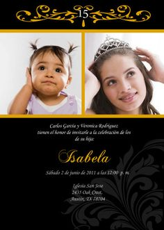 13 best quinceanera invitations images on pinterest quinceanera diy invitation quinceanera baby photo english by cecydesigns solutioingenieria Image collections