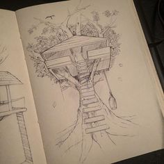 For #sketchwars this week. Number 2... A classic #treehouse in my semi private sketch/work book#sketchaday#sketch#innovation#classic#love#architecture#passion#art#artist#future#industrialdesign#industrialdesigner#productdesign#hardwork#treehousesensation#fun#illustration#conceptart#engineer by jonosborneidsa