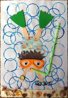 Ocean Crafts for Kids: hundreds of ocean themed ideas Kids Crafts, Sea Crafts, Summer Crafts, Summer Art, Projects For Kids, Diy And Crafts, Arts And Crafts, Paper Crafts, Family Crafts