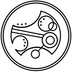 """Timelord"" written in circular Gallifreyan requested by anon"