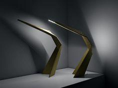 Daru - cardboard desk led light for Leaf Difference on Behance