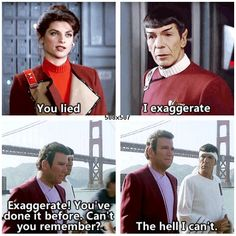 Spock ... you need to work on your cussing.