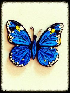 Finally managed to make my Quilled Butterfly