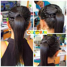 Más de las bellas trenzas para las mamitas en Colorin peluquerías