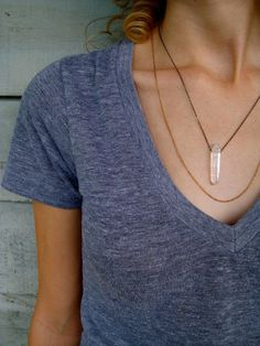 quartz and layered chains by Another Feather