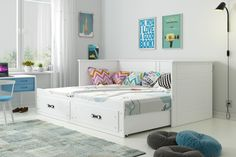 Internetový obchod s nábytkom - Nábytok-Bogart. Lit Simple, Toddler Bed, Furniture, Home Decor, Gray, Children Reading, Comfortable Couch, Double Beds, Child Bed