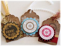 Christmas Tags by myimajennation - Cards and Paper Crafts at Splitcoaststampers
